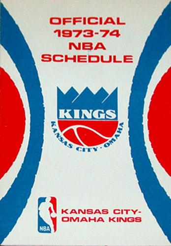 Kansas City-Omaha Kings Pocket Schedule Pocket Schedule (1973/74) -  SportsLogos.Net