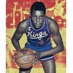 Kansas City-Omaha Kings (1974) Sam Lacey wears the Kansas City-Omaha Kings road uniform on his 1974-75 Topps basketball card