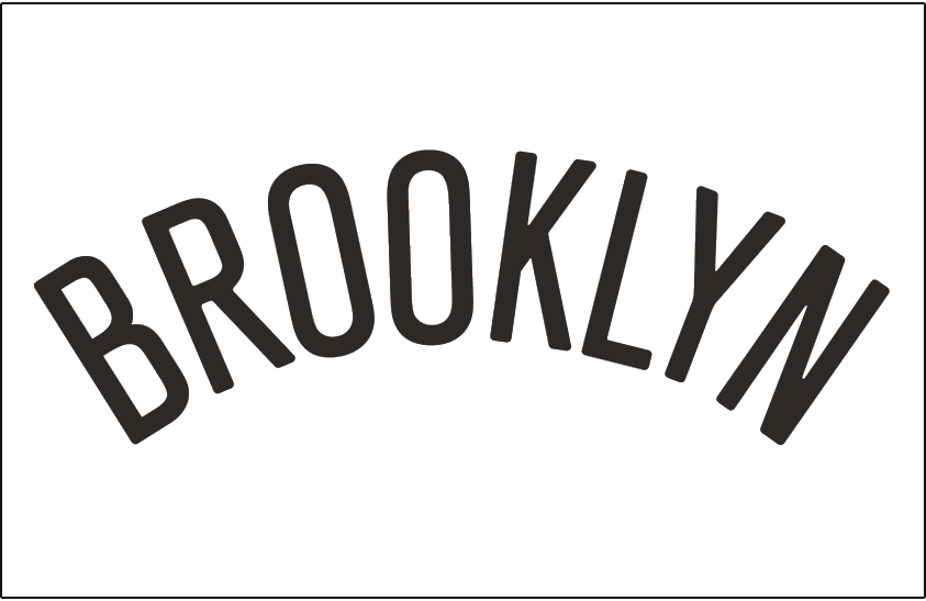 Brooklyn Nets Logo Jersey Logo (2012/13-Pres) - Brooklyn arched in black - worn on the front of the Brooklyn Nets home jersey SportsLogos.Net
