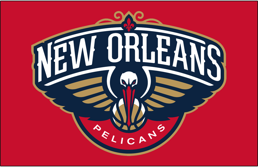 New Orleans Pelicans Primary Dark Logo National Basketball
