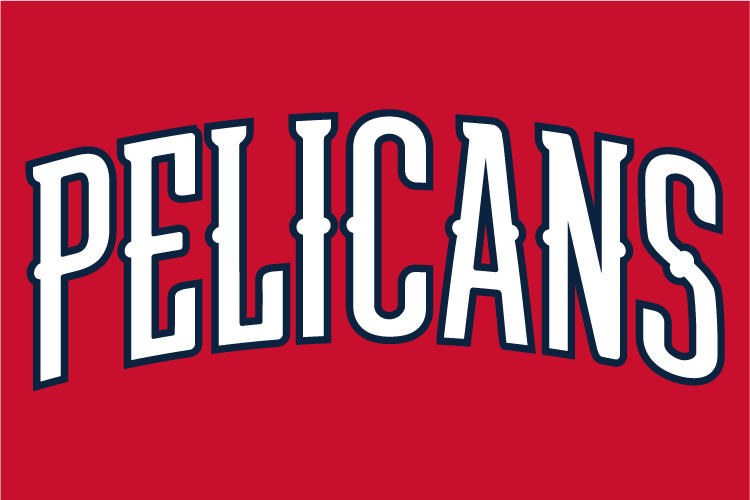 New Orleans Pelicans Wordmark Logo - National Basketball