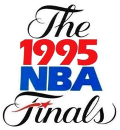 NBA Finals Logo Primary Logo (1994/95) - 1995 NBA Finals logo - Houston Rockets vs Orlando Magic SportsLogos.Net