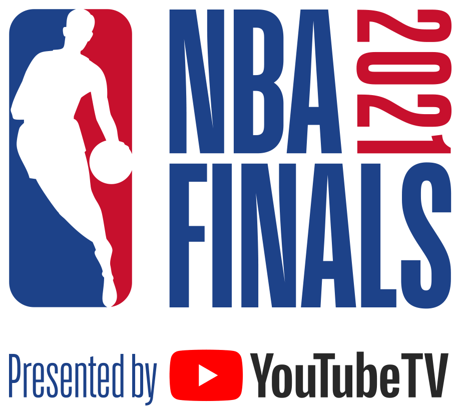 NBA Finals Logo Primary Logo (2020/21) - The 2021 NBA Finals logo, continues the NBA Finals logo template in use since 2018 which places the NBA logo to the left of NBA FINALS stacked in blue with the year 2021 displayed vertically in red. As has been the case since 2019, the logo is presented by YouTubeTV SportsLogos.Net