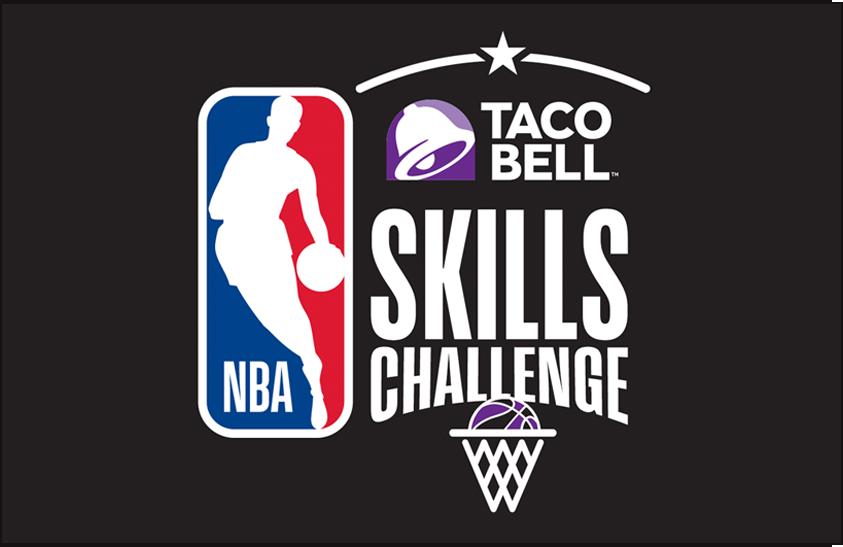 NBA All-Star Game Logo Event Logo (2017/18) - 2018 NBA All-Star Skills Challenge Logo on black SportsLogos.Net