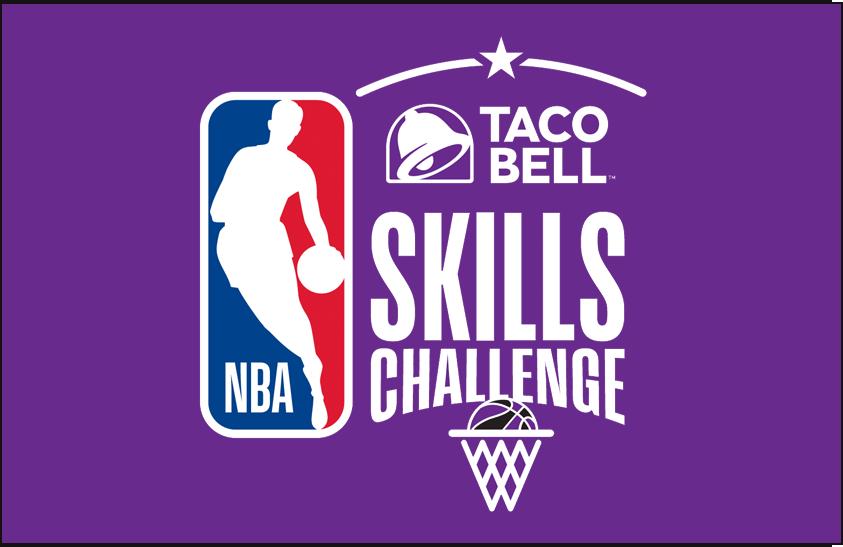 NBA All-Star Game Logo Event Logo (2017/18) - 2018 NBA All-Star Skills Challenge Logo on purple SportsLogos.Net