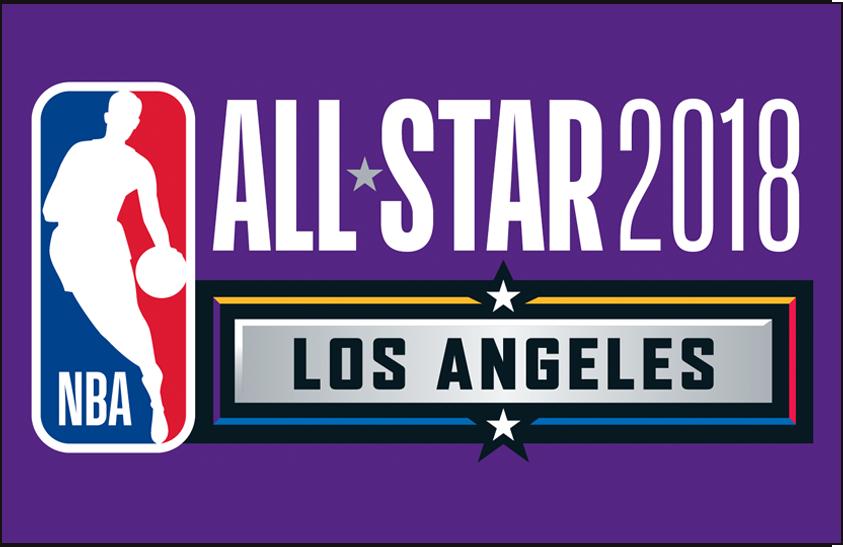 NBA All-Star Game Logo Primary Dark Logo (2017/18) - 2018 NBA All-Star Game Logo on purple SportsLogos.Net