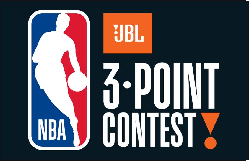 NBA All-Star Game Logo Event Logo (2017/18) - 2018 NBA Three Point Contest Logo on black SportsLogos.Net