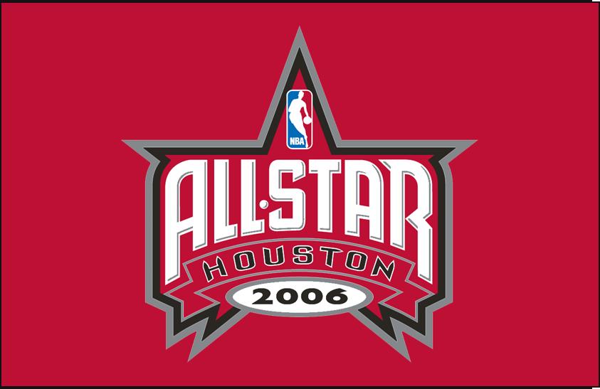NBA All-Star Game Logo Primary Dark Logo (2005/06) - 2006 NBA All-Star game logo on red background SportsLogos.Net