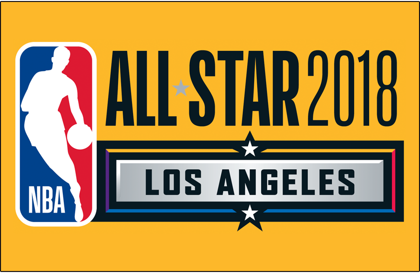 NBA All-Star Game Logo Primary Dark Logo (2017/18) - 2018 NBA All-Star Game Logo on gold SportsLogos.Net