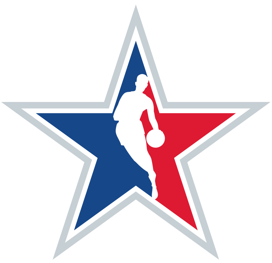 NBA All-Star Game Logo Secondary Logo (2020/21) - Originally scheduled to be played in Indianapolis, the COVID-19 pandemic forced the NBA to scrap its plans for a traditional All-Star Game in 2021. A couple of months into the 2020-21 season the league changed its mind and chose to stage an All-Star Game in Atlanta in March 2021. Here is the annual NBA Starman logo for the 2021 NBA All-Star Game in Atlanta, shows the league logo on a star shape rather than the usual rounded rectangle. SportsLogos.Net