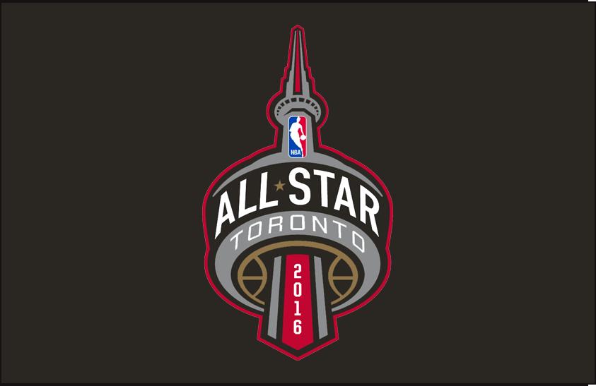 NBA All-Star Game Logo Primary Dark Logo (2015/16) - 2016 NBA All-Star game logo on black background SportsLogos.Net