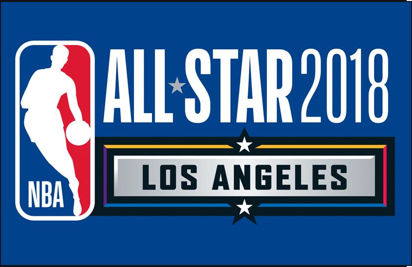 NBA All-Star Game Logo Primary Dark Logo (2017/18) - 2018 NBA All-Star Game Logo on blue SportsLogos.Net