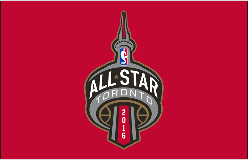 NBA All-Star Game Logo Primary Dark Logo (2015/16) - 2016 NBA All-Star game logo on red background SportsLogos.Net