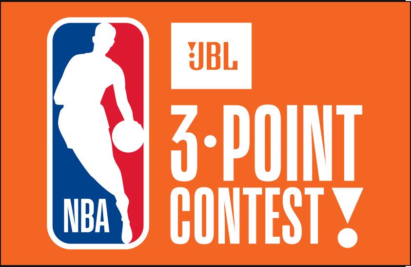 NBA All-Star Game Logo Event Logo (2017/18) - 2018 NBA Three Point Contest Logo on orange SportsLogos.Net