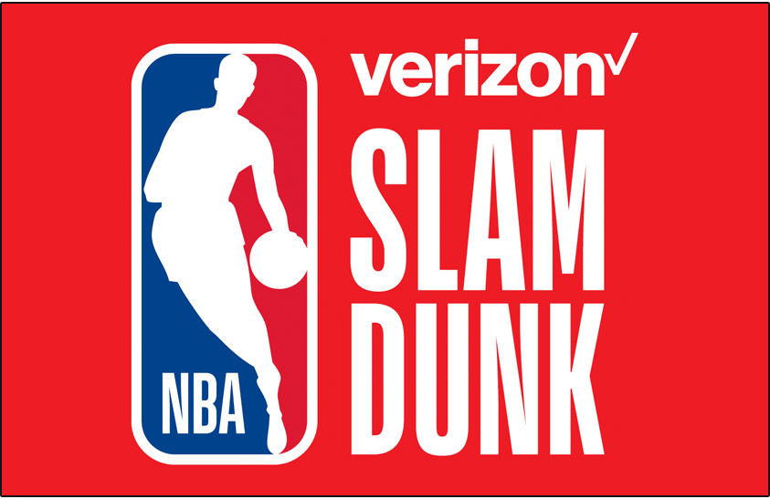 NBA All-Star Game Logo Event Logo (2017/18) - 2018 NBA Slam Dunk Contest Logo on red SportsLogos.Net
