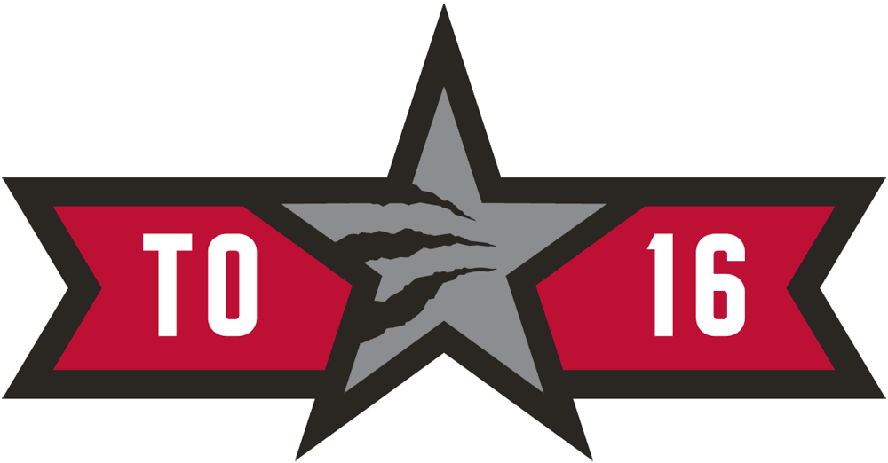 NBA All-Star Game Logo Wordmark Logo (2015/16) - 2016 NBA All-Star Game Logo - Game played in Toronto, ON. TO 16 around a star-claw SportsLogos.Net