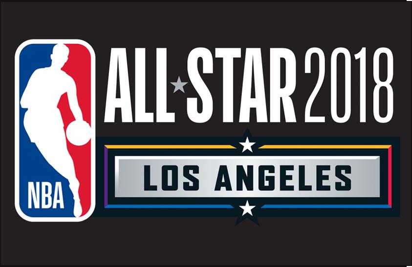 NBA All-Star Game Logo Primary Dark Logo (2017/18) - 2018 NBA All-Star Game Logo on black SportsLogos.Net