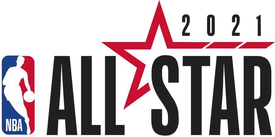 NBA All-Star Game Logo Primary Logo (2020/21) - Originally scheduled to be played in Indianapolis, the COVID-19 pandemic forced the NBA to scrap its plans for a traditional All-Star Game in 2021. The league still held All-Star voting and has since considered staging an All-Star Game in Atlanta in March 2021. The logo shown here continues the league-wide template with the logo to the left and event name to the right, a red star is included with 2021 above. SportsLogos.Net