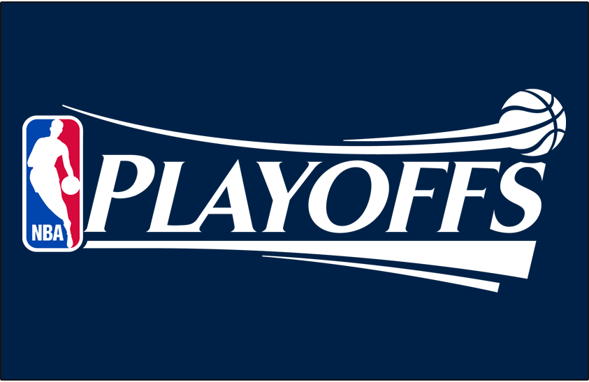 NBA Playoffs Logo Primary Dark Logo (2006/07-2016/17) - NBA Playoffs Logo on Navy SportsLogos.Net