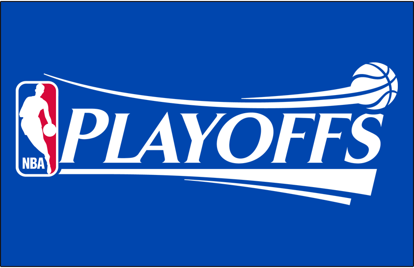 NBA Playoffs Logo Primary Dark Logo (2006/07-2016/17) - NBA Playoffs Logo on Blue SportsLogos.Net