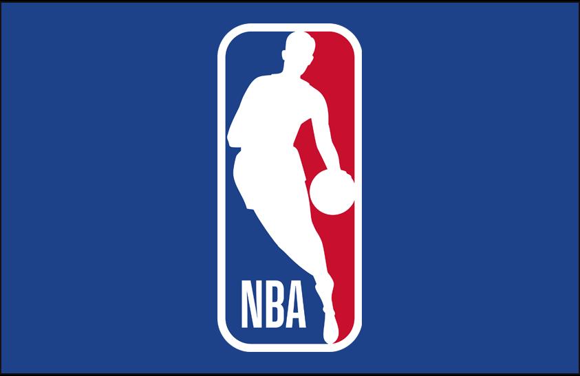 National Basketball Association Logo Primary Dark Logo (2017/18-Pres) - NBA logo on blue SportsLogos.Net