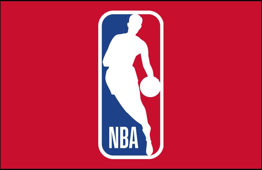 National Basketball Association Logo Primary Dark Logo (2017/18) - NBA logo on red SportsLogos.Net