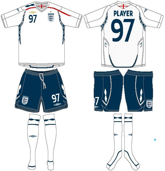 England  Uniform Home Uniform (2007-2009) -  SportsLogos.Net