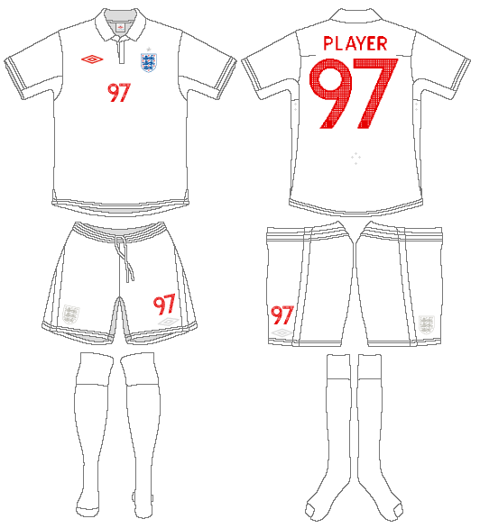 England  Uniform Home Uniform (2009-2010) -  SportsLogos.Net