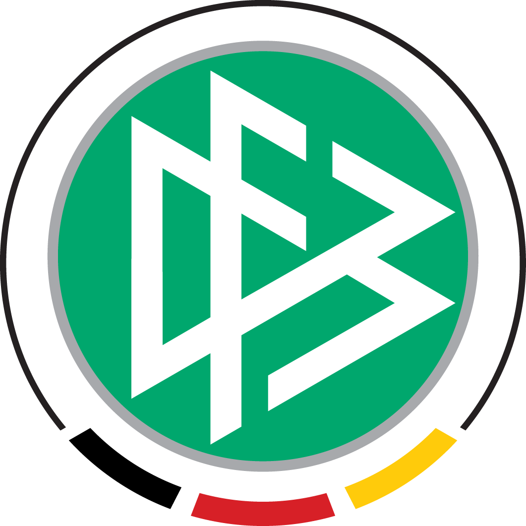 Germany  Logo Primary Logo (2003-2008) - DFB in 3 triangles on a green circle SportsLogos.Net