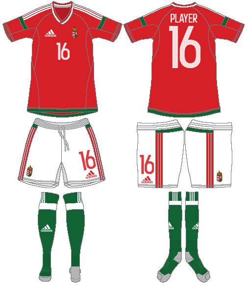 Hungary  Uniform Home Uniform (2016-2018) -  SportsLogos.Net