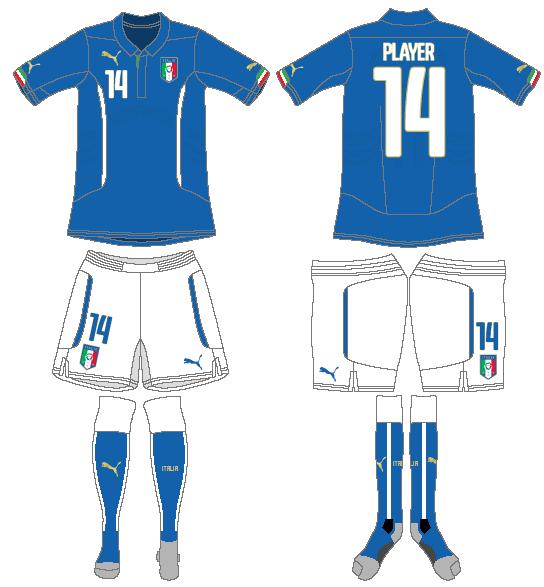 Italy  Uniform Home Uniform (2014-Pres) -  SportsLogos.Net