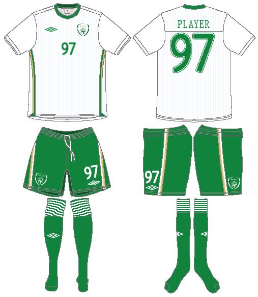 Ireland  Uniform Road Uniform (2010-2011) -  SportsLogos.Net
