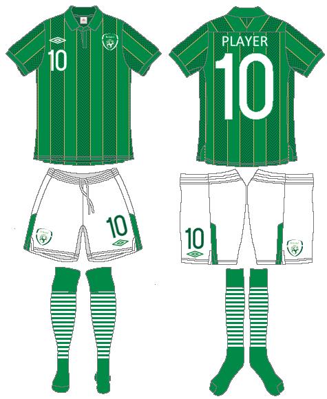 Ireland  Uniform Home Uniform (2011-2013) -  SportsLogos.Net