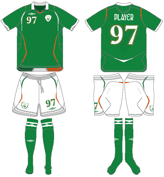 Ireland  Uniform Home Uniform (2008-2010) -  SportsLogos.Net
