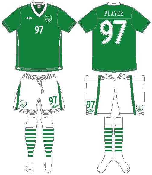 Ireland  Uniform Home Uniform (2010-2011) -  SportsLogos.Net