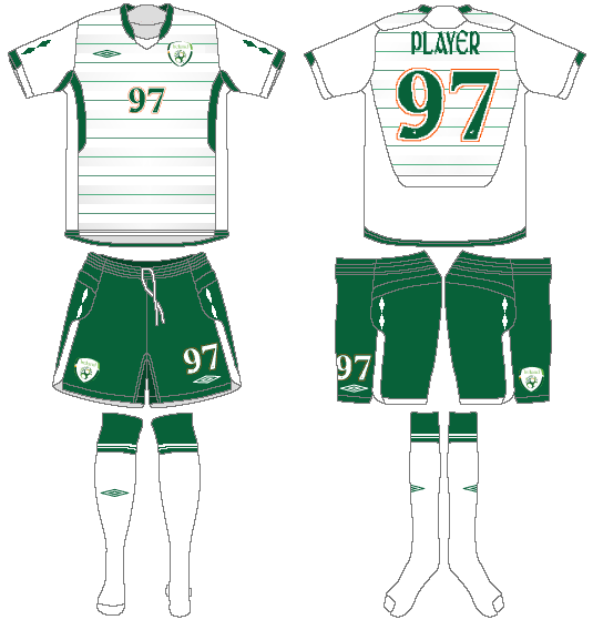 Ireland  Uniform Road Uniform (2009-2010) -  SportsLogos.Net