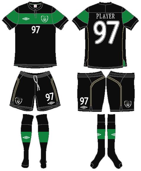 Ireland  Uniform Road Uniform (2011-2012) -  SportsLogos.Net