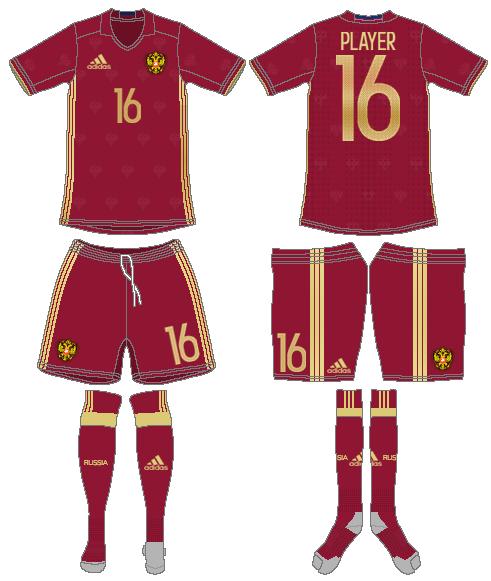 Russia  Uniform Home Uniform (2016-2018) -  SportsLogos.Net