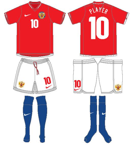 Russia  Uniform Home Uniform (2006-2008) -  SportsLogos.Net