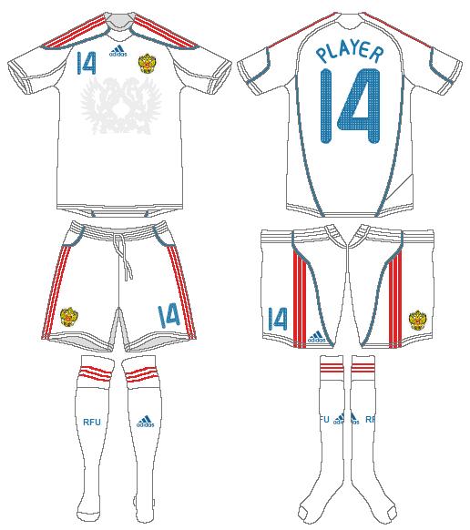 Russia  Uniform Road Uniform (2009) -  SportsLogos.Net