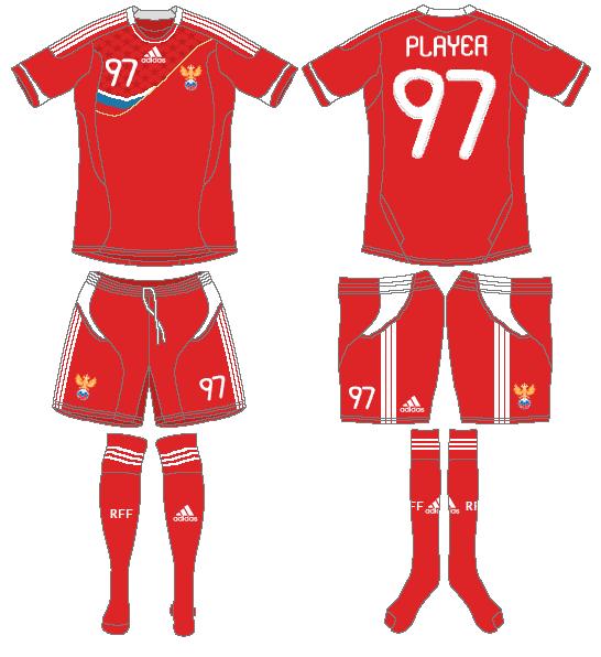 Russia  Uniform Home Uniform (2011) -  SportsLogos.Net