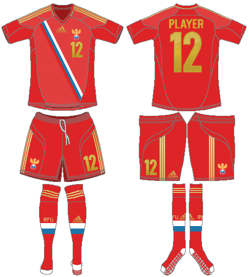 Russia  Uniform Home Uniform (2012-2014) -  SportsLogos.Net
