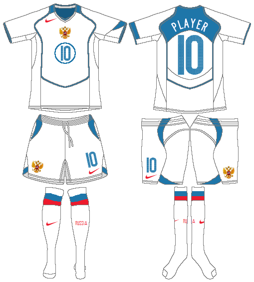 Russia  Uniform Home Uniform (2004-2006) -  SportsLogos.Net