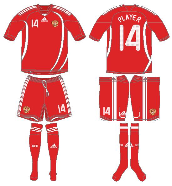 Russia  Uniform Home Uniform (2008-2009) -  SportsLogos.Net