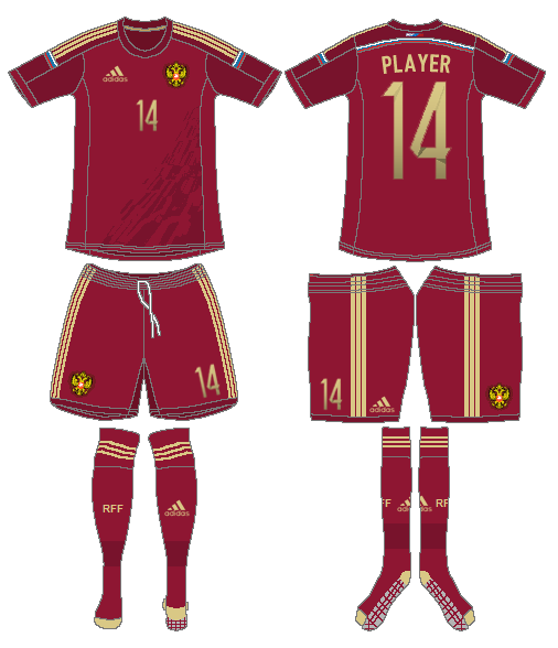 Russia  Uniform Home Uniform (2014-Pres) -  SportsLogos.Net