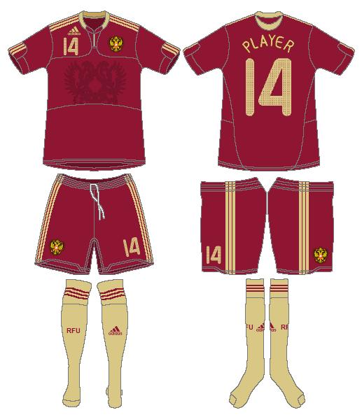 Russia  Uniform Home Uniform (2009) -  SportsLogos.Net