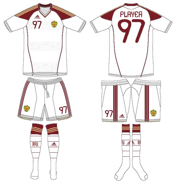 Russia  Uniform Road Uniform (2010) -  SportsLogos.Net