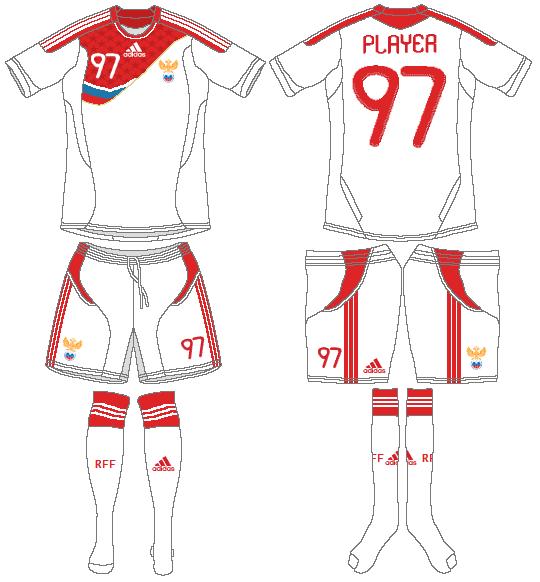 Russia  Uniform Road Uniform (2011) -  SportsLogos.Net