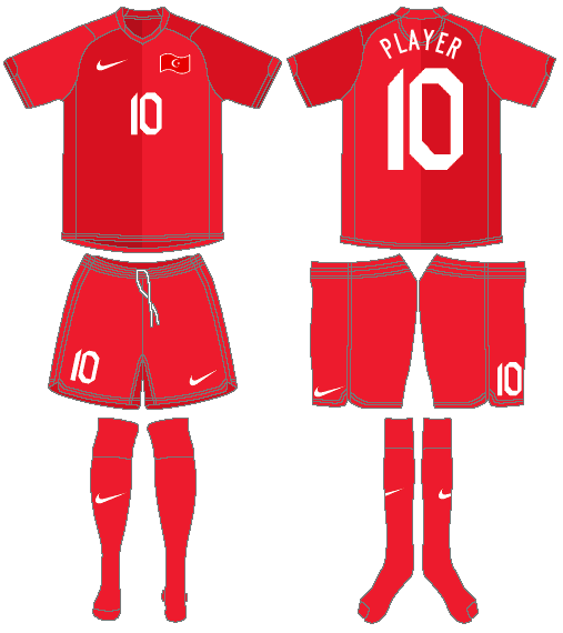 Turkey  Uniform Home Uniform (2006-2008) -  SportsLogos.Net