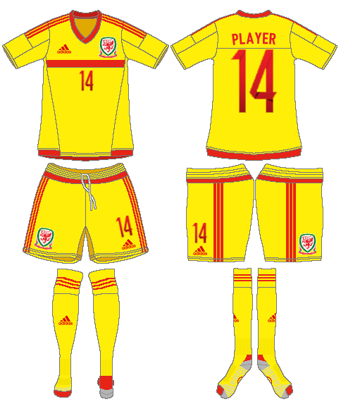 Wales  Uniform Road Uniform (2015-2016) -  SportsLogos.Net